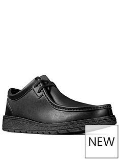 clarks-boysnbspyouth-mendip-craft-lace-up-school-shoes-black