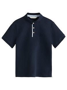 mango-boys-granddadnbspcollar-short-sleeve-polo-shirt-navy