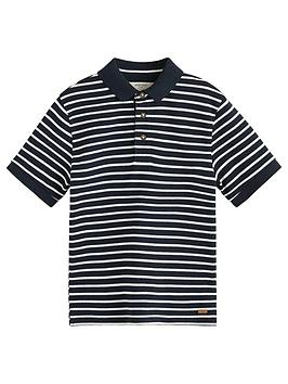 mango-boys-short-sleeve-colourblock-polo-shirt-navy