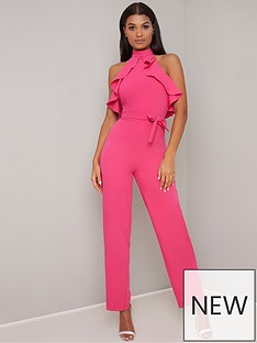 3d6a0bbb143 Chi Chi London Shellie Jumpsuit - Fuchsia