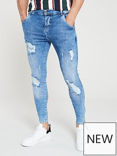 sik-silk-distressed-skinnynbspjeans-midwash