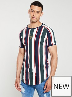 sik-silk-rotary-stripe-raglan-gym-t-shirt-multi-coloured