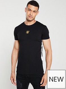 sik-silk-side-tape-t-shirt-black