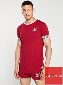sik-silk-runner-cuff-gym-t-shirt-red