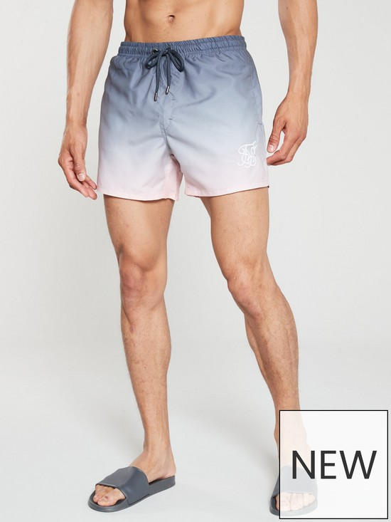 159997c594 Sik Silk Fade Swim Shorts - Grey/Peach | very.co.uk