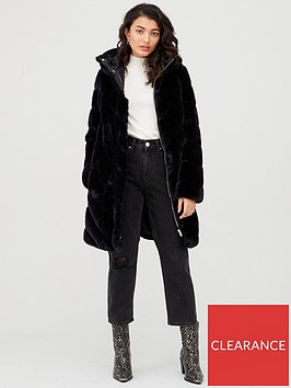 v-by-very-faux-fur-padded-coat-black