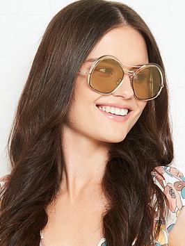 max-mara-round-double-bridge-sunglasses-rose-gold
