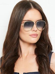 jimmy-choo-oversized-aviator-sunglassesnbsp-nbspgold