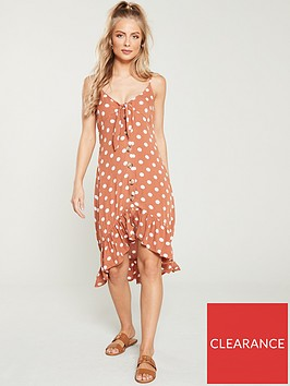 river-island-river-island-spot-bow-front-beach-dress-brown