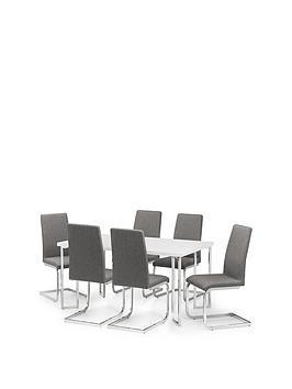 julian-bowen-manhattan-gloss-150-cm-dining-table-6-roma-chairs