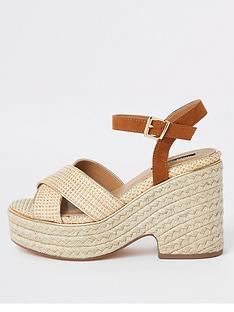 river-island-river-island-chunky-wedge-sandals-neutral