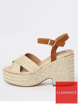 river-island-river-island-chunky-wedge-sandals-neutral