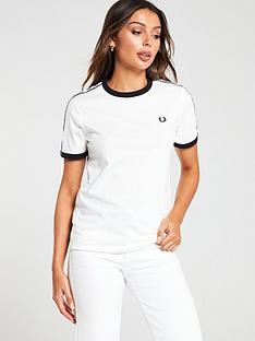 fred-perry-taped-ringer-t-shirt-white