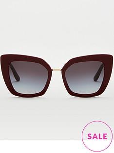 dolce-gabbana-red-cateye-sunglasses