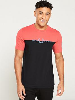 fred-perry-graphic-colour-t-shirt-tropical-redblack