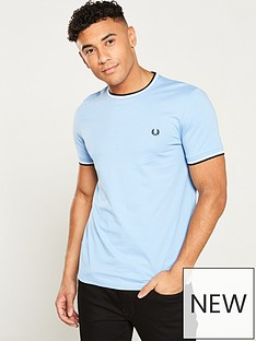 fred-perry-twin-tipped-t-shirt-sky-blue