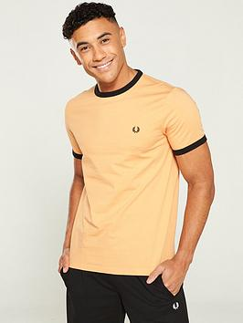 fred-perry-ringer-t-shirt-orange