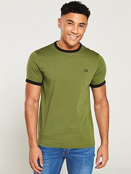 fred-perry-ringer-t-shirt-cypress-green