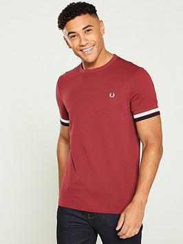 fred-perry-bold-tipped-t-shirt-maroon