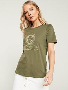 river-island-embroidered-t-shirt--khaki