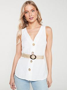 river-island-river-island-button-down-belted-top--white