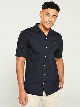 fred-perry-reverse-collar-shirt-black