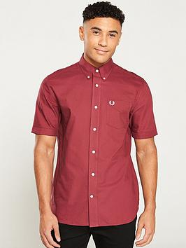 fred-perry-classic-oxford-shirt-maroon