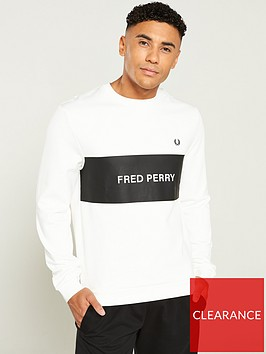 fred-perry-panel-sweatshirt-snow-white