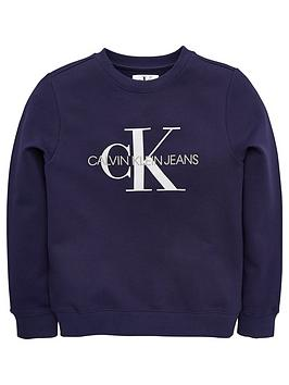 calvin-klein-jeans-boys-logo-crew-neck-sweat-top--nbspnavy