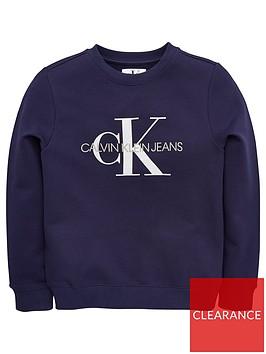 calvin-klein-jeans-boys-logo-crew-neck-sweat-top--nbspnavy