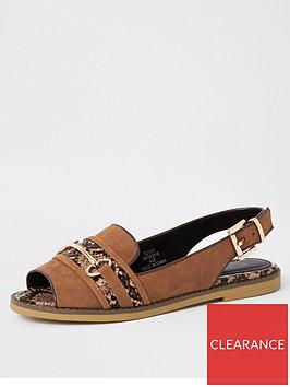 river-island-river-island-peep-toe-slingback-sandals-tan