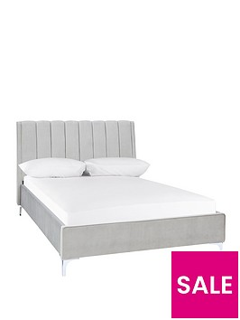 michelle-keegan-home-phoebe-velvet-bed-frame-with-mattress-options-buy-and-save