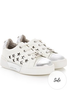 michael-kors-toddler-girlsnbspstars-lace-up-trainers-whitesilver