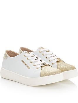 michael-kors-girls-zia-ivy-martin-glitter-toe-trainers-whitegold