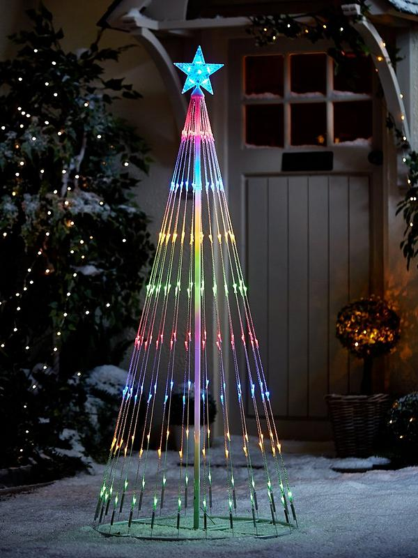Contemporary Christmas Trees Uk.Waterfall Led Indoor Outdoor Christmas Tree Light