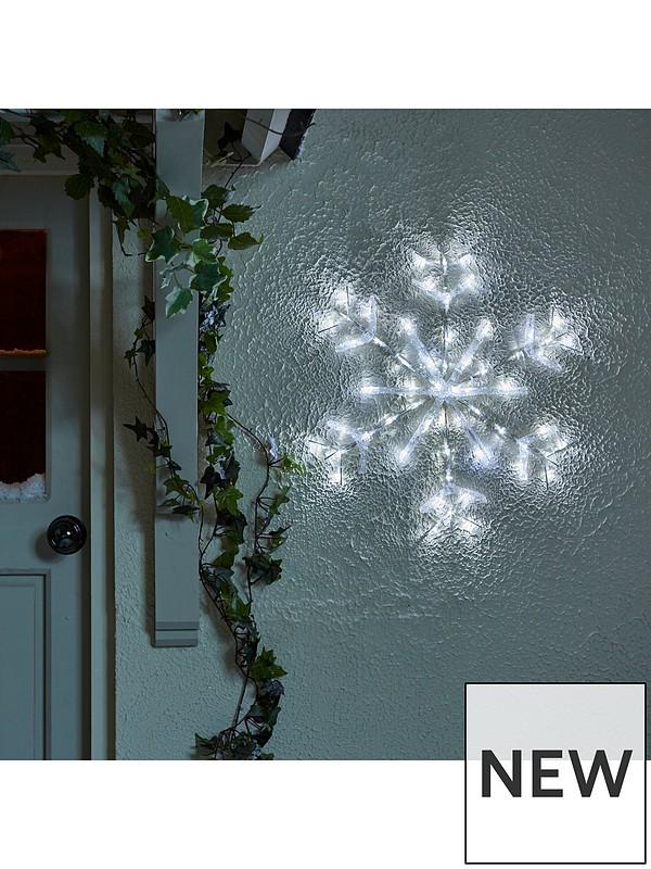 Indoor/Outdoor Acrylic Hanging Snowflake Light