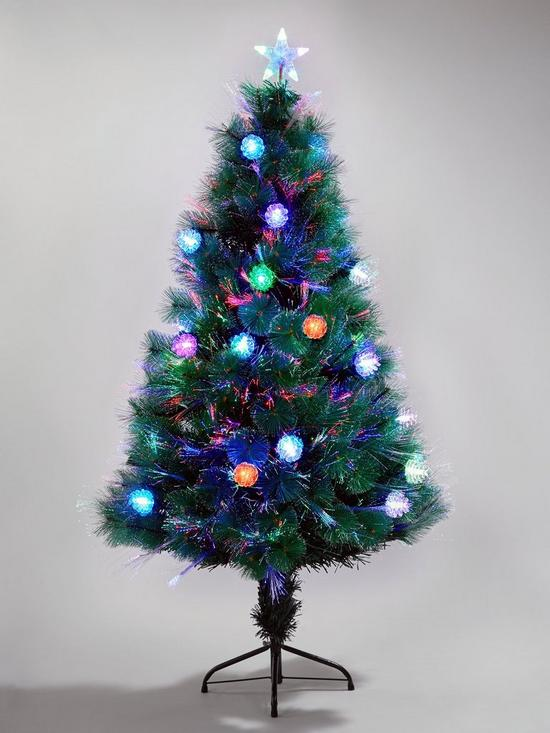 Colour Changing And Space Saving Needle Pine Fibre Optic Christmas Tree 5ft Very Co Uk