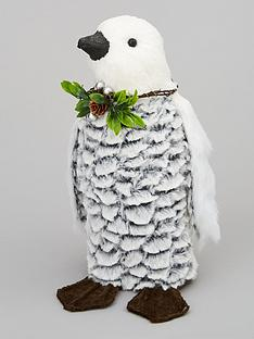 flocked-penguin-room-decoration