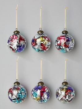 foil-filled-glass-christmas-tree-baubles-set-of-6