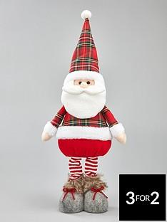 tartan-standing-santa-christmas-decoration