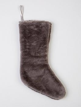 grey-faux-fur-christmas-stocking