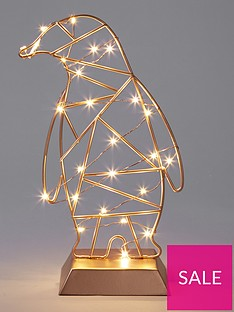 gold-penguin-with-led-lights-30cm