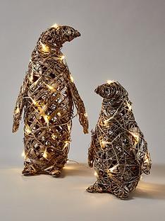 rattan-lit-penguin-christmas-decorations-set-of-2