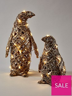 rattan-lit-penguin-christmas-decorations-set-of-2