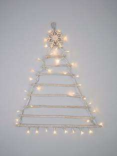 pre-lit-wall-hanging-christmas-tree-ndash-75-cm