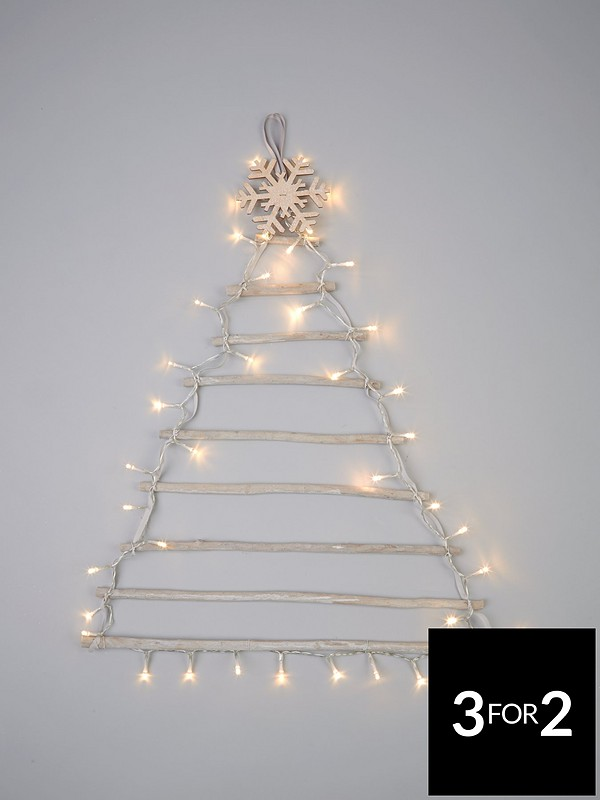 competitive price bcca6 11813 Pre-Lit Wall Hanging Christmas Tree – 75 cm