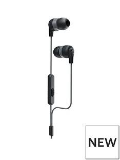 Skullcandy Ink'd+ In-Ear Headphones with Built In Mic - Black