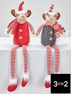 set-of-2-dangly-leg-reindeer-christmas-decorations
