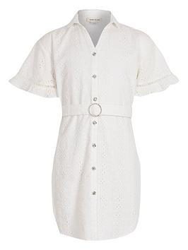 river-island-girls-broderie-shirt-dress-white