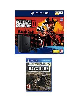 Ps4 Pro 1tb Red Dead Redemption 2 Console Bundle